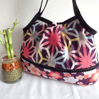 Japanese Kimono Pattern Granny bag purse hexagon by MofLeema