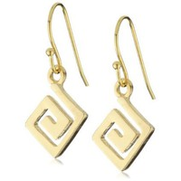 "Lisa Stewart ""Modern Myth"" 14k Gold-Plated Love Earrings"