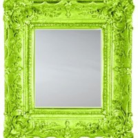 One Kings Lane - Citrus Hues - English Chippendale Mirror, Lime