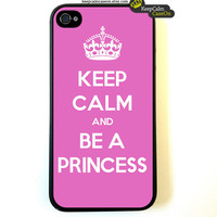 iPhone 4 Case Keep Calm Call Be A Princess by KeepCalmCaseOn