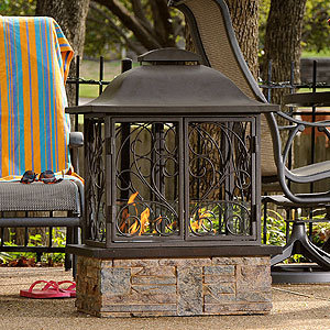 Taylor Portable Indoor/Outdoor Gel Fuel Fireplace | Living Room Furniture| Furniture | World Market