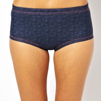TYR Huntington Beach Denim Boy Short Bikini Bottoms