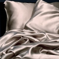 2 Pcs Soft Silky Satin Standard Size Pillowcase Set (silver)