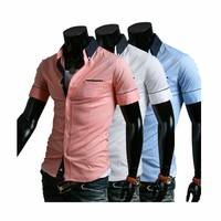Men's Shirts Fashion Stylish Short-Sleeve Shirt by martEnvy