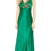 Sleeveless Satin Gown