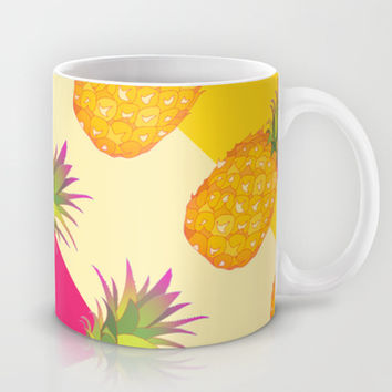 Tropical Pineapples Mug by Ornaart