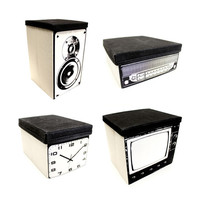 Hi-Fi System Canvas Storage Set