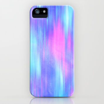 Aurora - Blur Abstract in Pink, Purple, Aqua & Royal Blue iPhone & iPod Case by TigaTiga Artworks