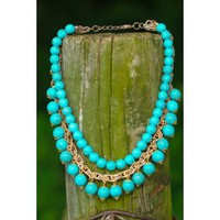 Fresh From The Grove Necklace-Turquoise