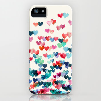 Heart Connections - watercolor painting iPhone & iPod Case by micklyn | Society6