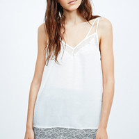 Pins & Needles Longline Cami in Ivory - Urban Outfitters