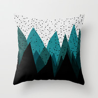 Winter is Here Throw Pillow by Pattern Pillows