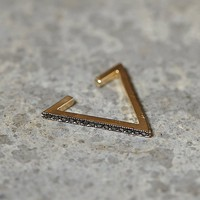 Zoe Chicco Womens Diamond Triangle Ear Cuff - Gold, One Size