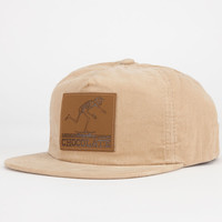 Chocolate El Choc Corduroy Mens Strapback Hat Khaki One Size For Men 24828541501