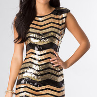 Short Sleeveless SequinDress by As U Wish