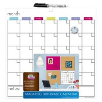 The Board Dudes Magnetic Dry-Erase Calendar 14in x 14in