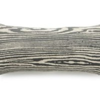 One Kings Lane - Downstairs - 8x16 Woodgrain Pillow, Slate