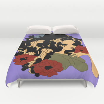 Druidess Duvet Cover by Texnotropio
