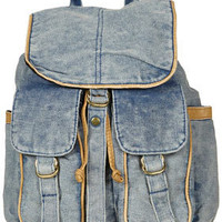 Blue Acid Wash Backpack - Bags & Purses  - Accessories  - Topshop