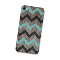 Iphone 4s Skin Wood Chevron Iphone Skin 4  Gadget by fieldtrip