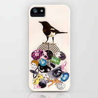 Magpie collector collage iPhone & iPod Case by Found and Chosen
