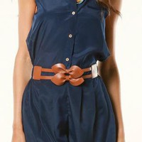 Blue Jump Suits/Rompers - Navy Betty Romper | UsTrendy