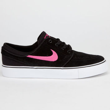 Nike Sb Stefan Janoski Boys Shoes Black/Pink Foil  In Sizes