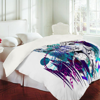 DENY Designs Home Accessories | Holly Sharpe Tribal Girl Colourway Duvet Cover