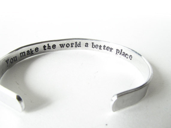 Secret Message Bracelet jewelry hand made by WyomingCreative