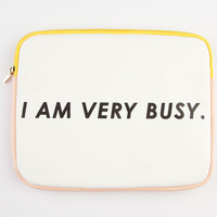 Ban.Do I Am Very Busy Ipad Sleeve White Combo One Size For Women 24697316701