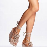 Flower-trim Wedge Sandal - Colin Stuart® - Victoria's Secret