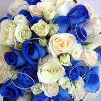 Bridal Bouquet for a Royal Blue Wedding