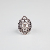 Full Tilt Filigree Ring Silver  In Sizes