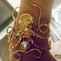 The Legit Bronze Octopus Bracelet by alexprettyhouse on Etsy