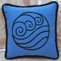 Water Tribe Pillow by zeldalilly on Etsy