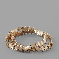 STAR STRETCH BRACELET SET IN GOLD