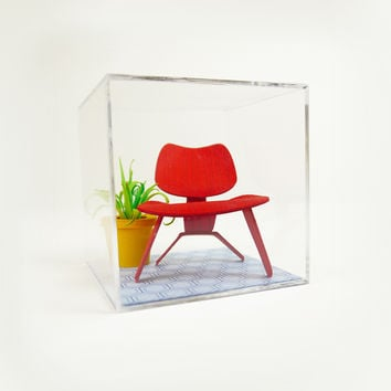 Mini Mid-Century Chair Terrarium