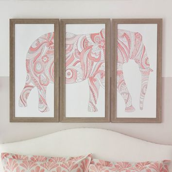 Elephant Art, Set Of 3