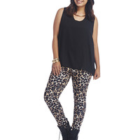 Animal Print Scuba Legging | Wet Seal+