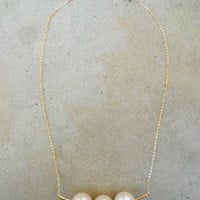 Three Pearls Necklace [5902] - $11.70 : Vintage Inspired Clothing & Affordable Dresses, deloom | Modern. Vintage. Crafted.