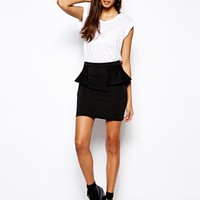 Oh My Love Scuba Peplum Skirt