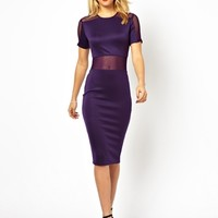 AX Paris Bodycon Dress with Mesh Panels