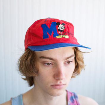 90's Mickey Mouse Snap Back Hat - One Size Fits All