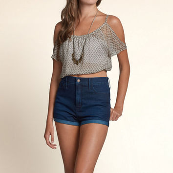 Oceanside Cold Shoulder Top