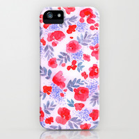 Floret (Red) iPhone & iPod Case by Jacqueline Maldonado | Society6