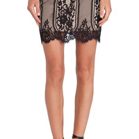 For Love & Lemons Wild Flower Skirt in Black