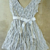 A Shade of Gray Lace Party Dress [2304] - $37.00 : Vintage Inspired Clothing & Affordable Summer Dresses, deloom | Modern. Vintage. Crafted.