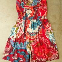 Red Bonnes Vacances Dress [2442] - &amp;#36;27.00 : Vintage Inspired Clothing &amp; Affordable Summer Dresses, deloom | Modern. Vintage. Crafted.