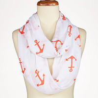 Coral Anchor Infinity Scarf | Jewelry and Accessories | World Market