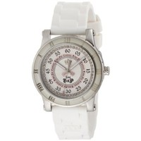 Juicy Couture Women's 1900417 HRH Stainless-Steel White Jelly Strap Watch